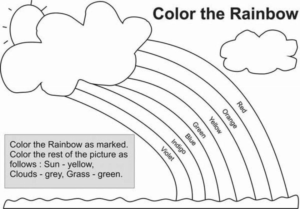 Rainbow Coloring Pages Free Printable   u043e
