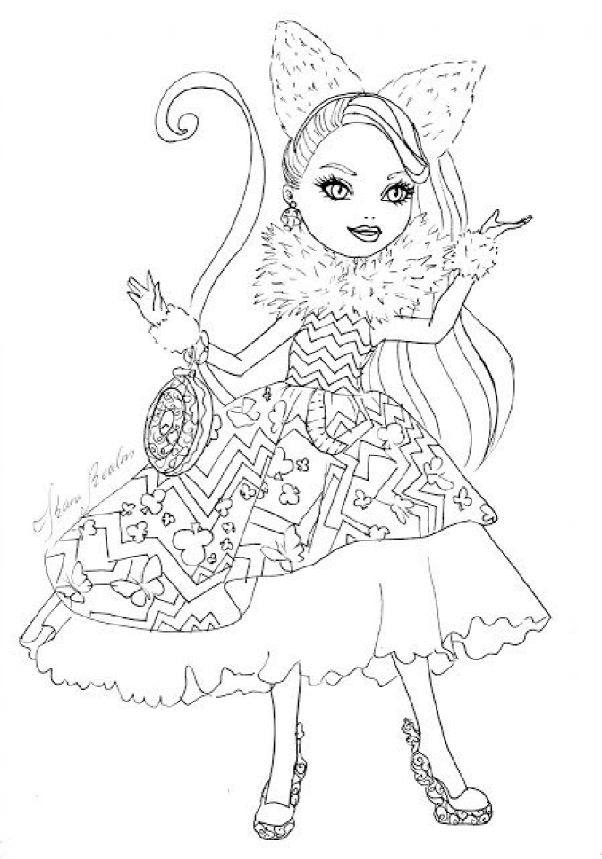 Get This Royal Rebels Ever After High Girl Coloring Pages