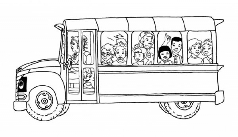 School Bus Coloring Pages Free Printable   p3frm