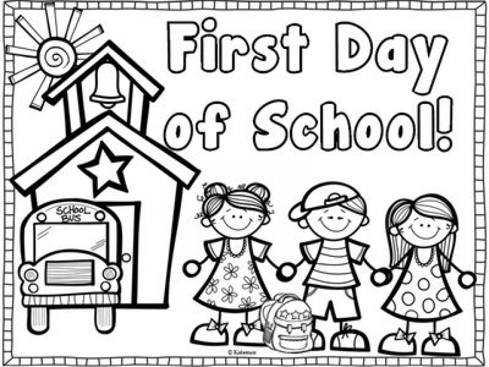 20+ Free Printable School Coloring Pages - EverFreeColoring.com