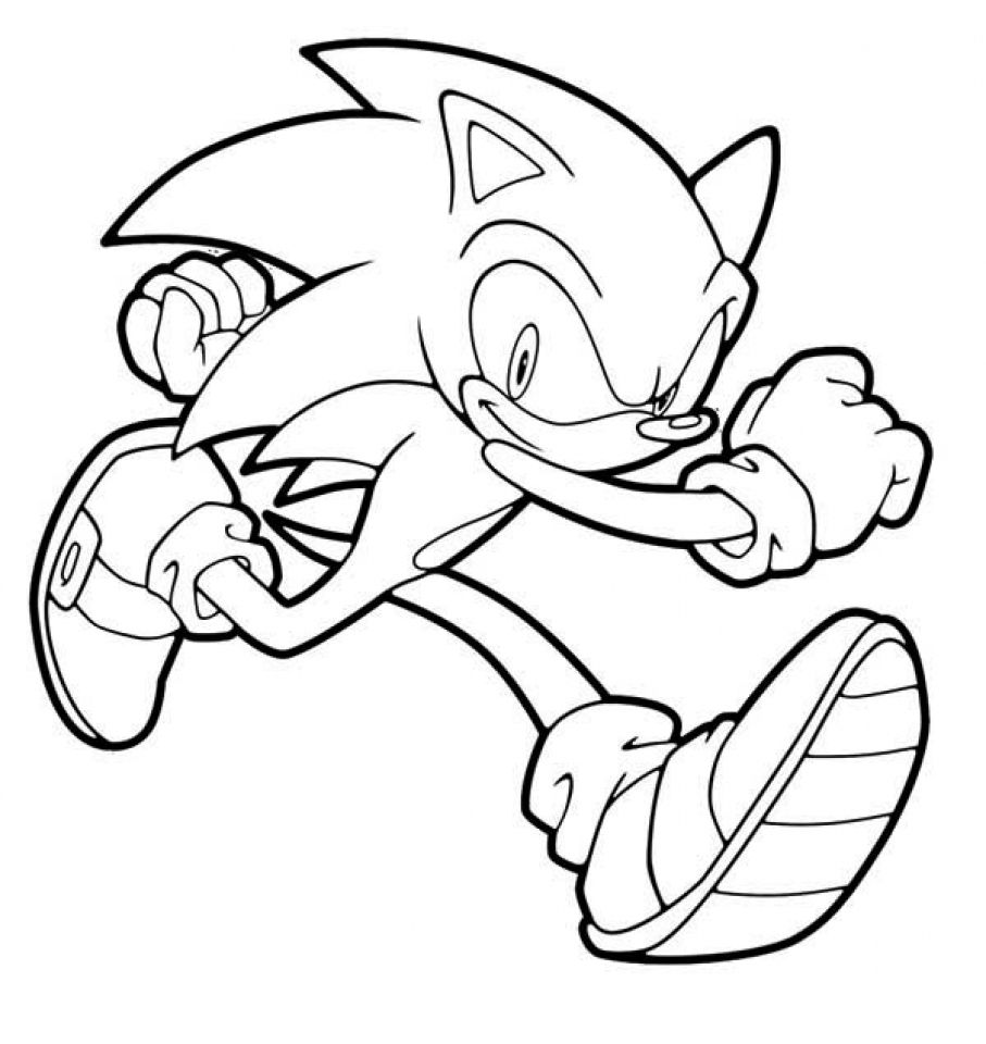 Sonic Coloring Pages Free Printable   107428