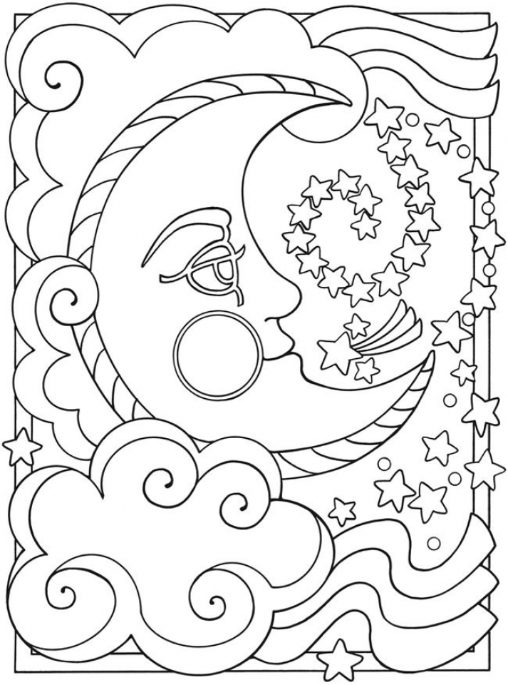 Free Coloring Pages For Adults No Download : Get this space coloring pages adults printable spd