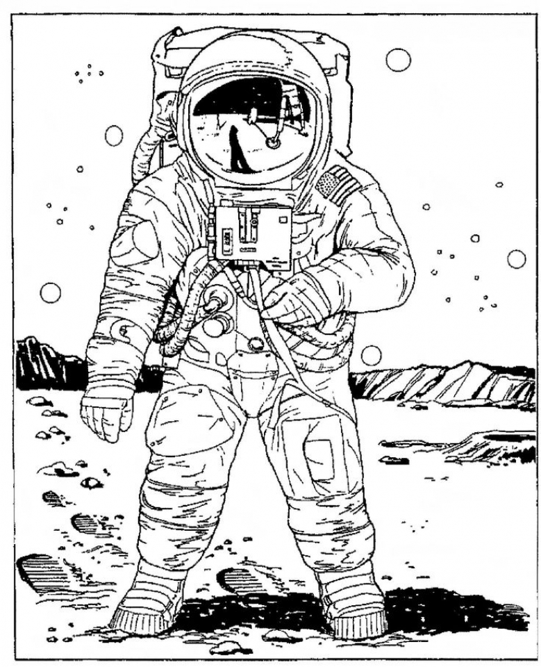Space Coloring Pages for Adults   GHT68
