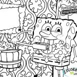 Spongebob Squarepants Coloring Pages Free Printable   u043e