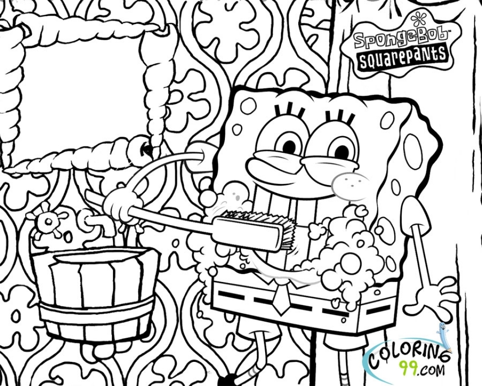 Get this spongebob squarepants coloring pages free for Coloring page spongebob