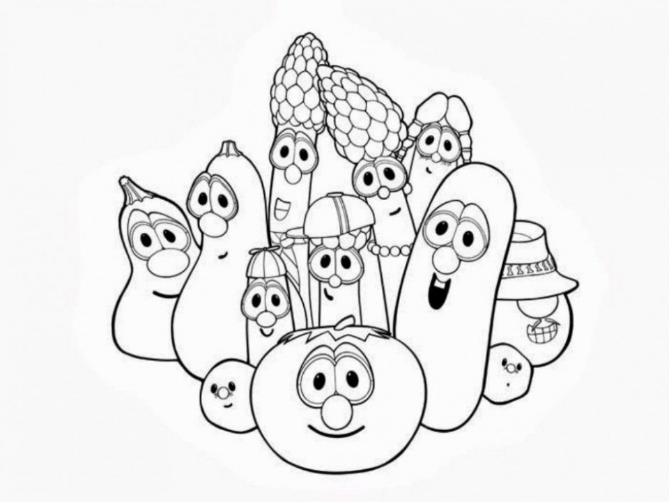printable veggie tales coloring pages | Get This Veggie Tales Coloring Pages Free Printable u043e