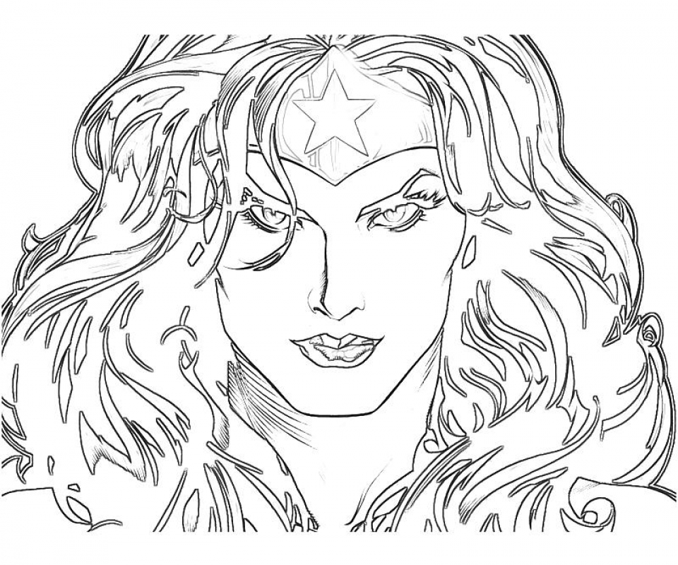 20 free printable wonder woman coloring pages for Wonder woman coloring pages