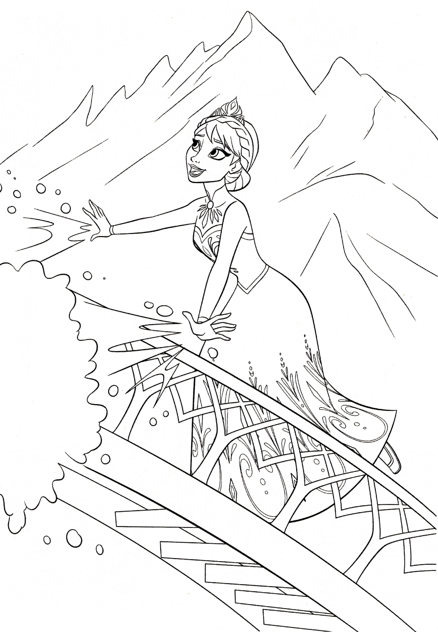 Get This Disney Queen Elsa Coloring Pages Frozen 09341
