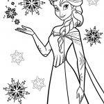 Disney Snow Queen Elsa Coloring Pages - 8CBS2