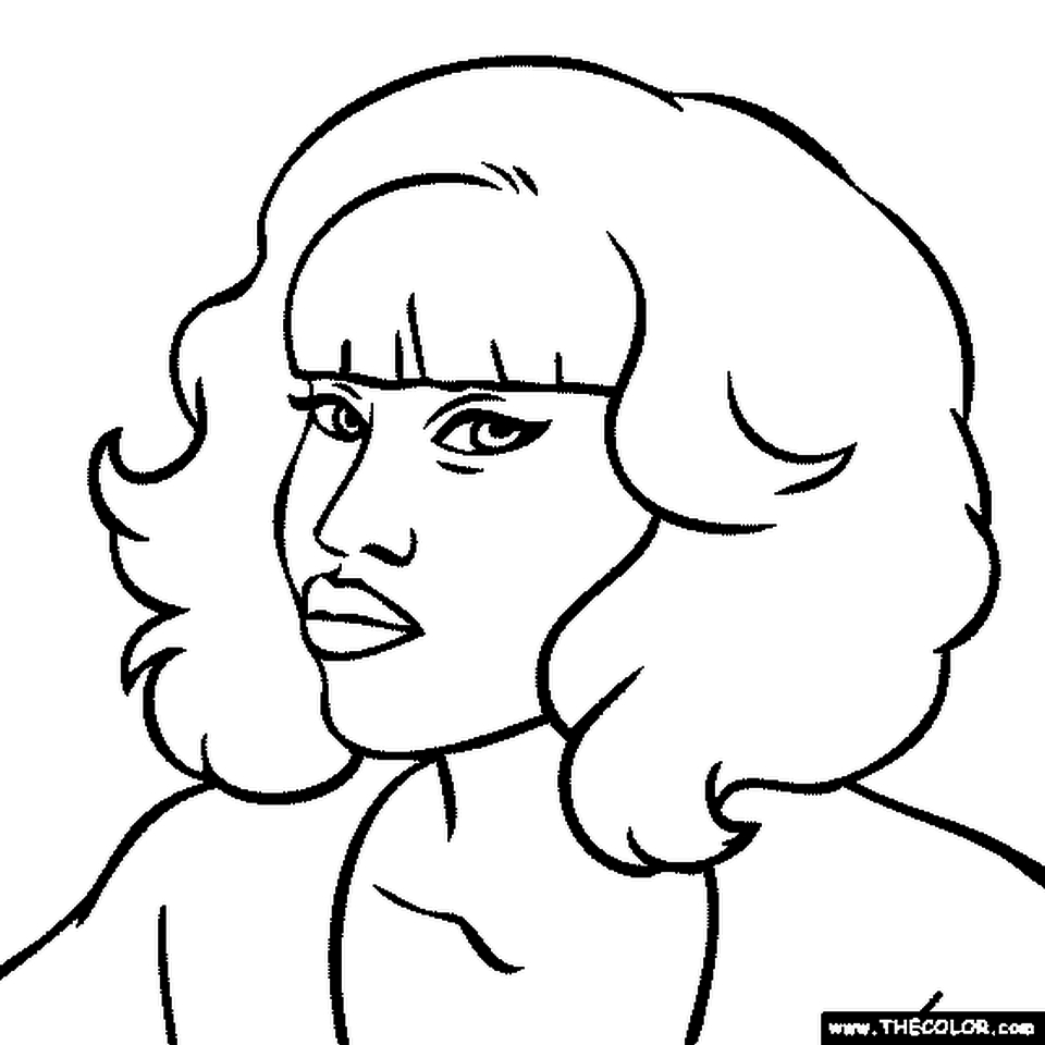 Nicki Minaj Coloring Pages To Print - 37184