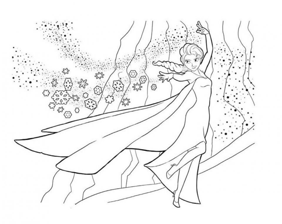 disney princess elsa coloring pages
