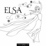 Disney Princess Elsa Coloring Pages Free to Print   52174