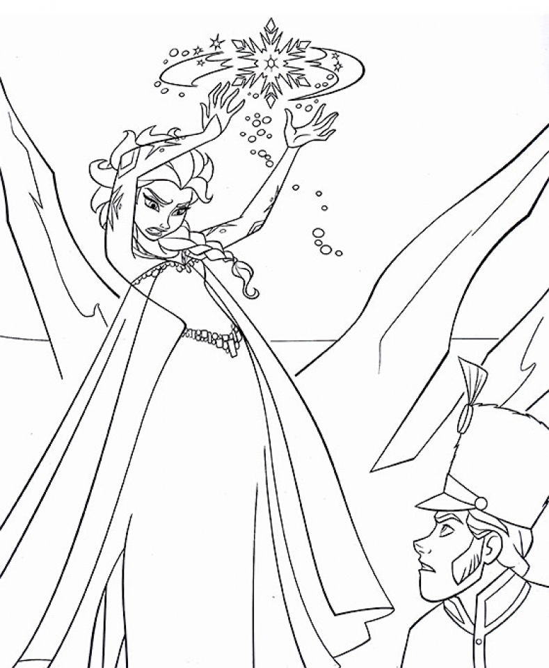 Get This Free Printable Queen Elsa Coloring Pages Disney Frozen