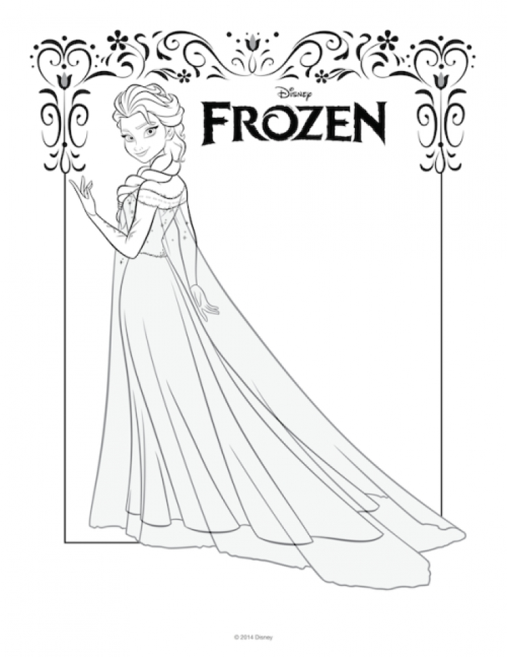 Frozen Halloween Printable Coloring Pages : Get this free printable queen elsa coloring pages disney