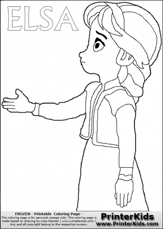 elsa frozen coloring page - get this free printable queen elsa coloring pages disney