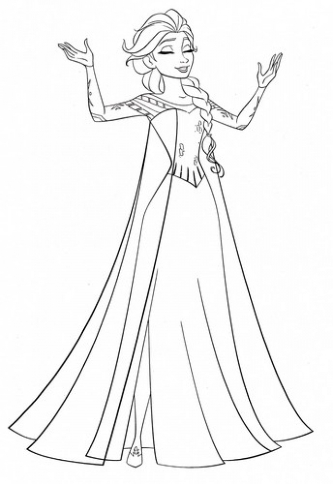 Get This Princess Elsa Coloring Pages 97341