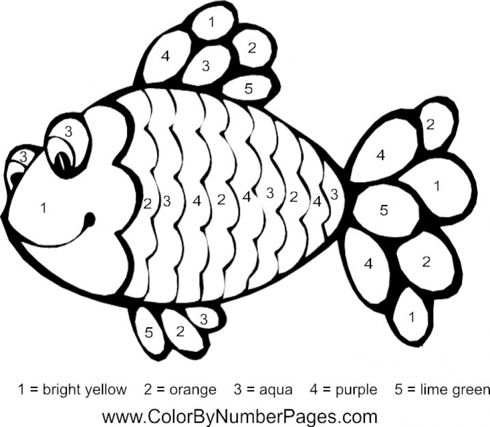 Get This Printable Rainbow Fish