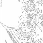 Rainbow Fish Coloring Pages for Preschoolers   34152