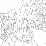 Rainbow Fish Coloring Pages Free   6cvg2