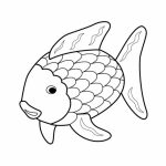 Rainbow Fish Coloring Pages Free   7XVE1