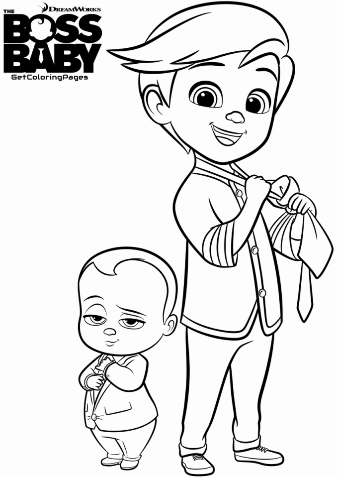 20 Free Printable Boss Baby Coloring Pages
