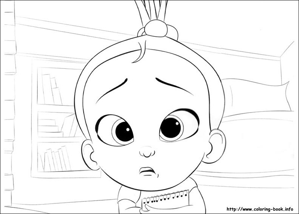 Boss Baby Free Printable Coloring Pages - 85712