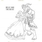 Free Printable Beauty and The Beast 2017 Coloring Pages Belle and Beast Dancing