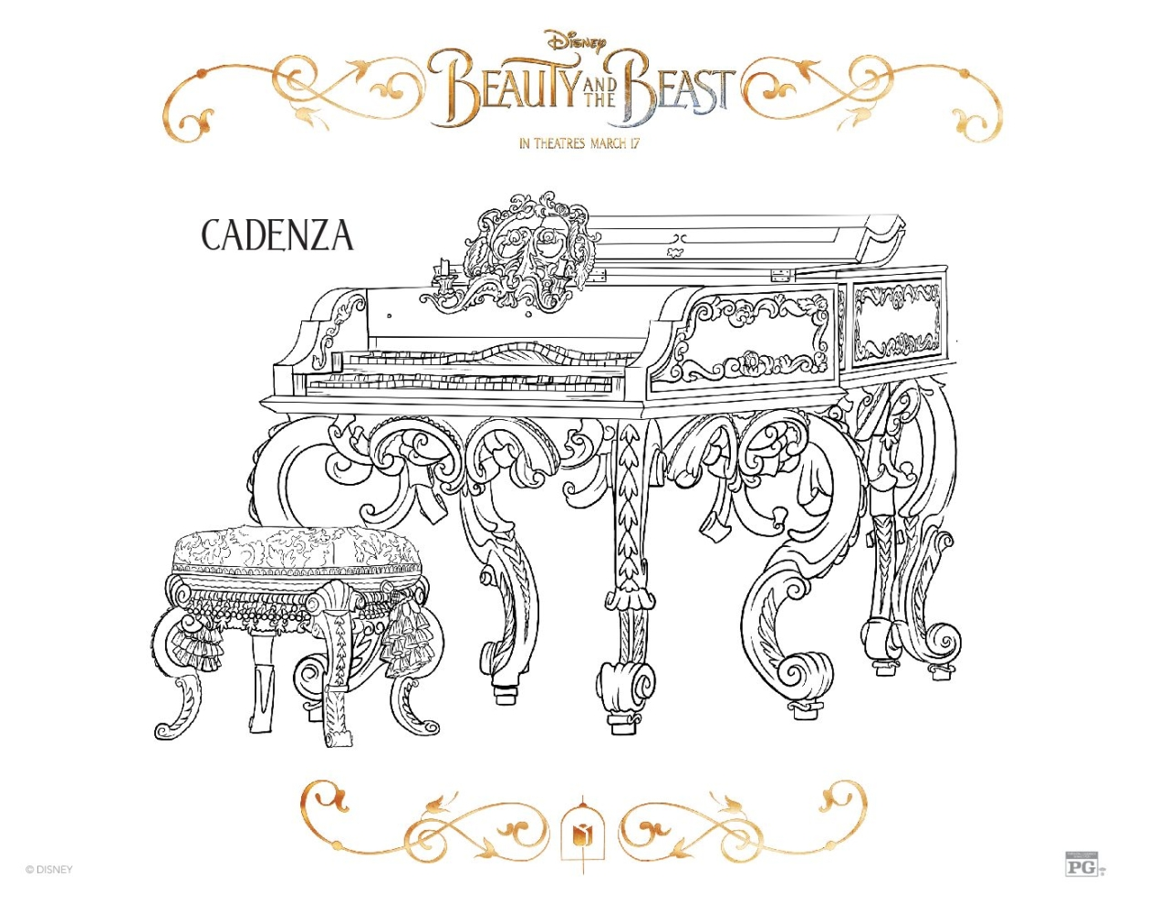 Free printable coloring pages march - Beauty And The Beast 2017 Coloring Pages