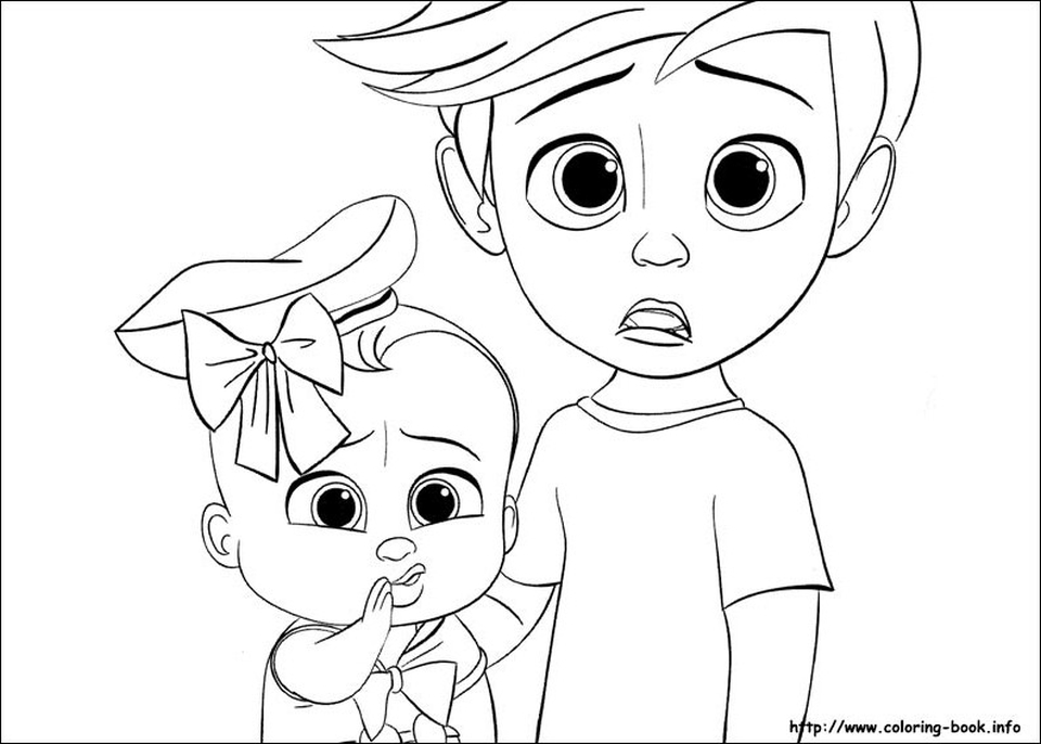 Online Boss Baby Coloring Pages for Kids - 83167