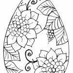 Adults Printable Easter Egg Coloring Pages   86904