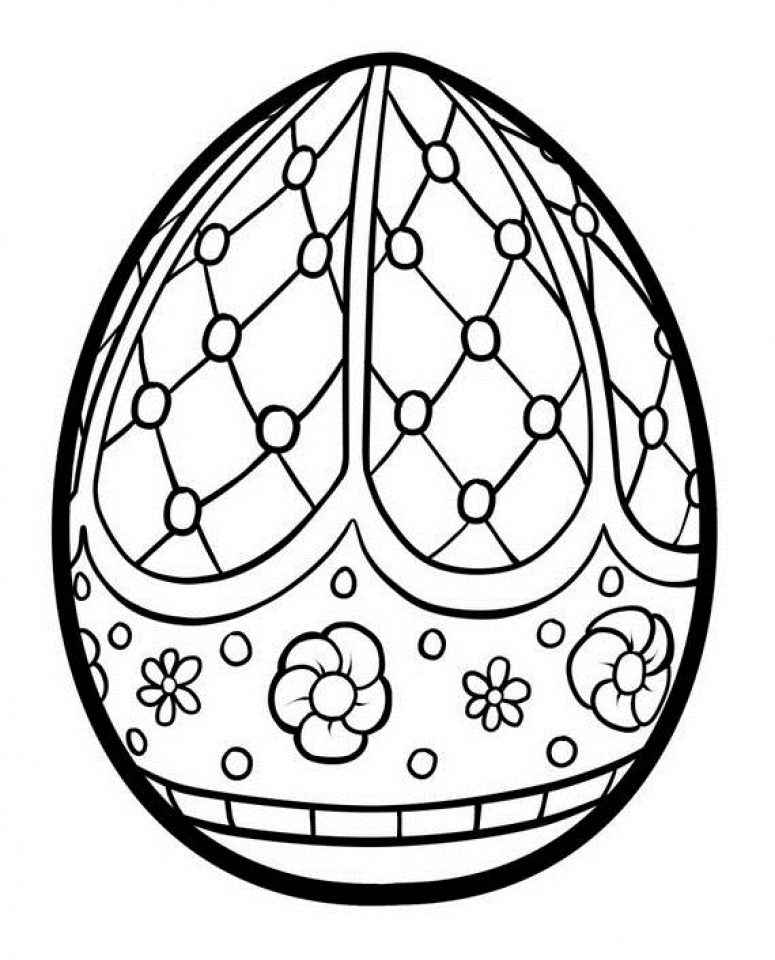 Adults Printable Easter Egg Coloring Pages   87903