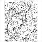 Advanced Coloring Pages of Easter Egg for Grown Ups   33700
