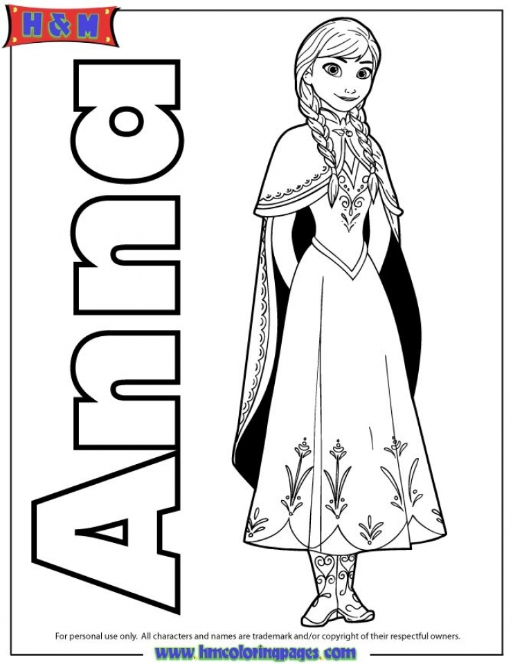 Disney Frozen Coloring Pages Princess Anna   77389