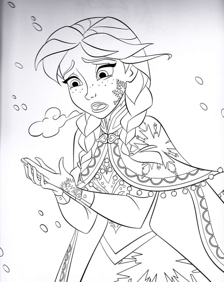 Disney Frozen Princess Anna Coloring Pages Free to Print   31672