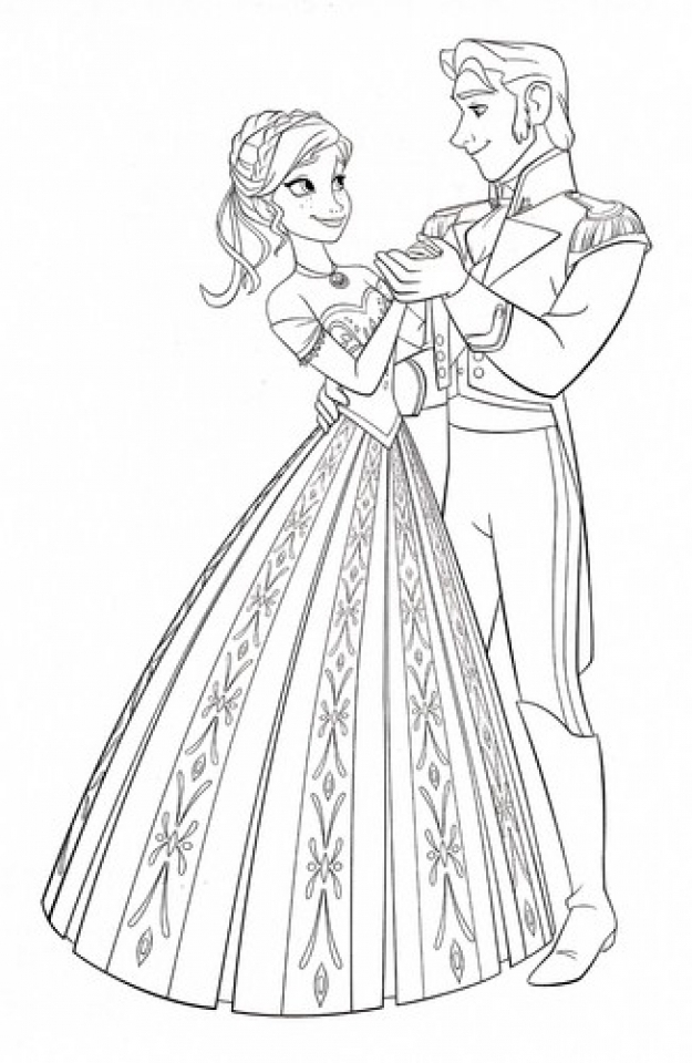 Disney Frozen Princess Anna Coloring Pages Free to Print   51723