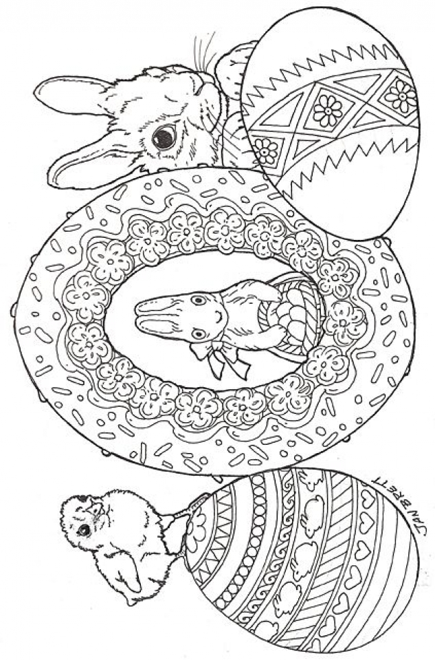 Get This Easter Egg Hard Coloring Pages For Adults 66771