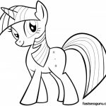 Easy My Little Pony Friendship Is Magic Coloring Pages for Preschoolers   79146