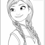 Free Coloring Pages of Princess Anna from Disney Frozen   17381