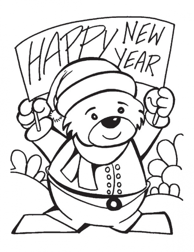 Get This Free Picture of New Years Coloring Pages