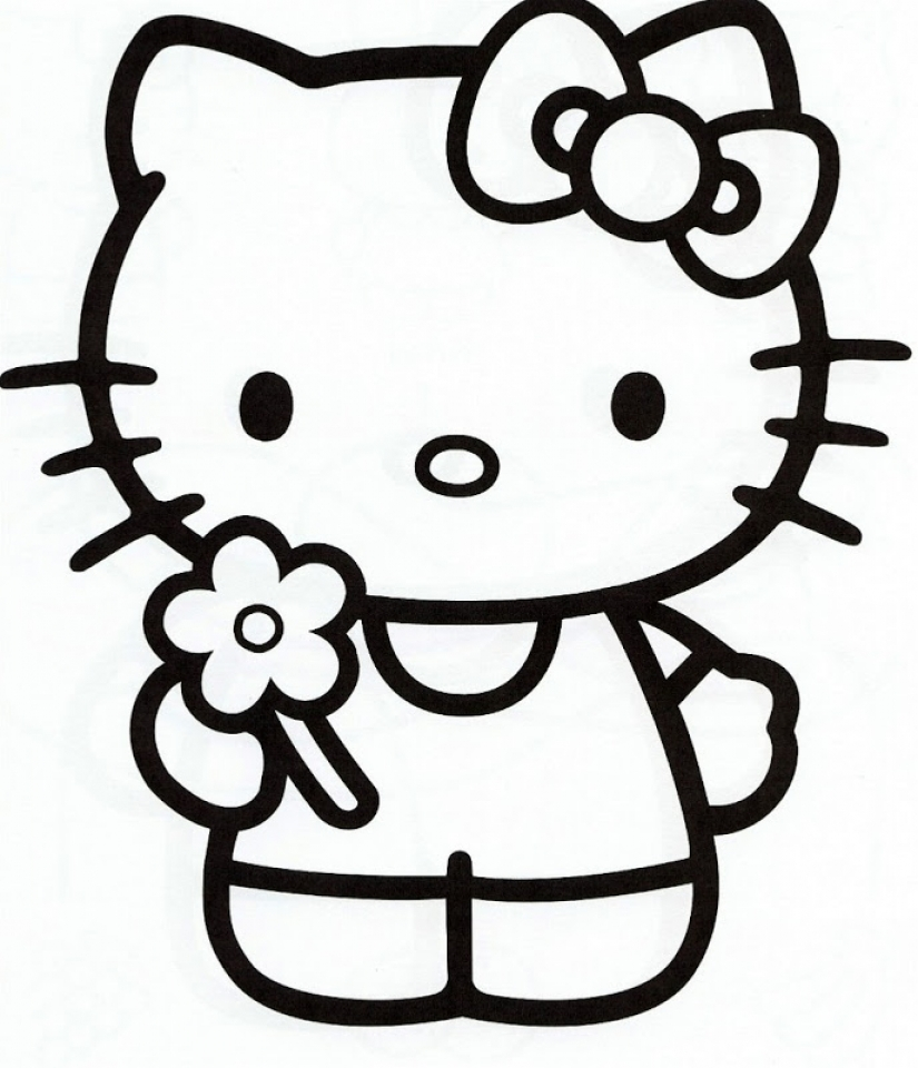 Free Preschool Kitty Coloring Pages to Print   94515