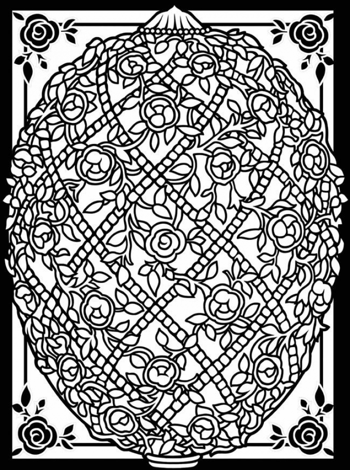 Free Printable Easter Egg Coloring Pages for Adults   23512
