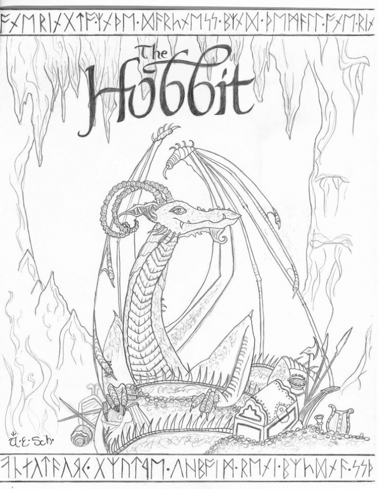 20 Free Printable The Hobbit Coloring