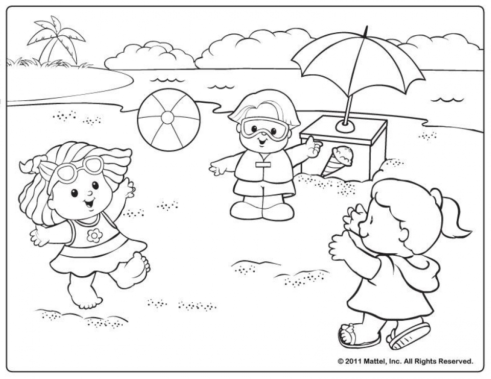 Get This Free Summer Coloring Pages line Printable