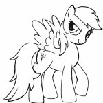 Kids' Printable Rainbow Dash Coloring Pages Free Online   60196