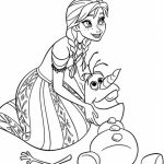 Online Disney Coloring Pages of Frozen Princess Anna   36131