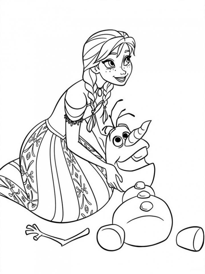 frozen disney princess coloring pages - photo#23