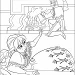 Online Disney Coloring Pages of Frozen Princess Anna   51537