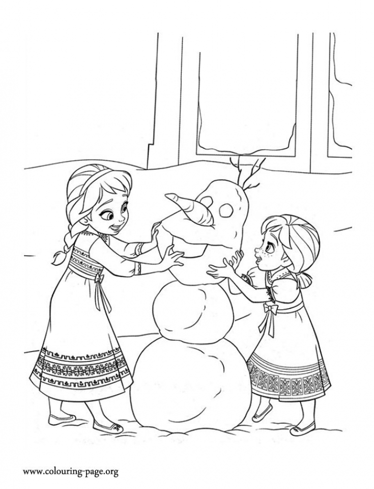 Online Disney Coloring Pages of Frozen Princess Anna   85718