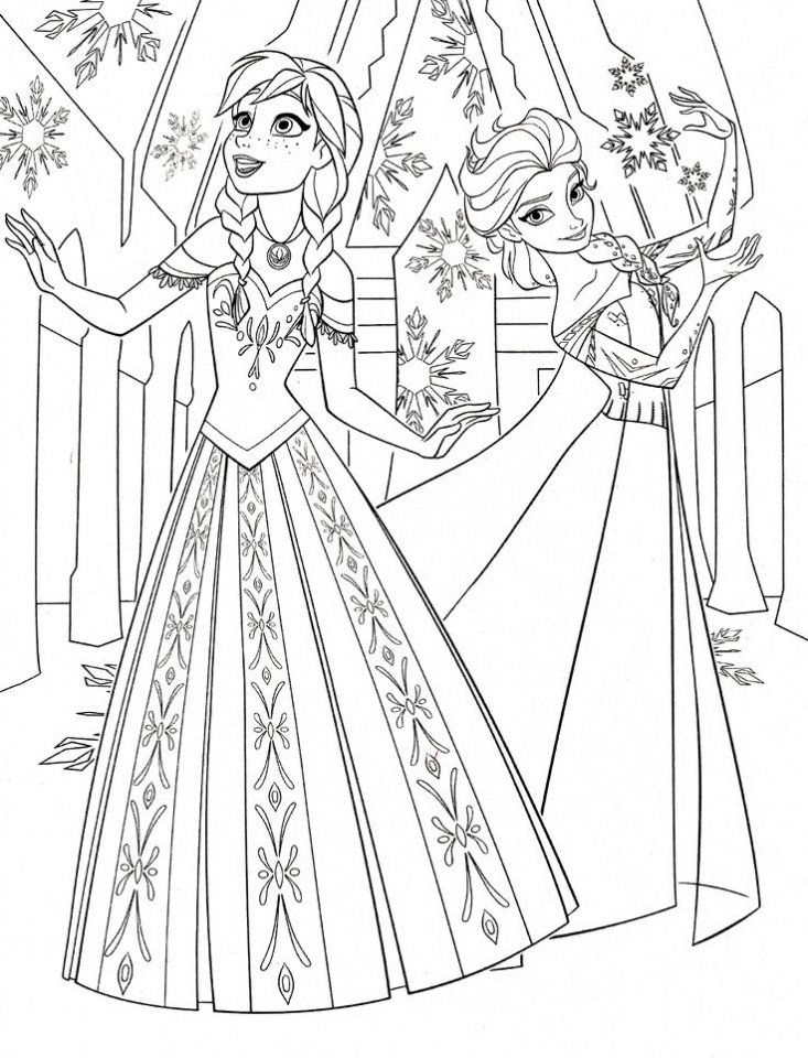 Online Disney Coloring Pages of Frozen Princess Anna   94792