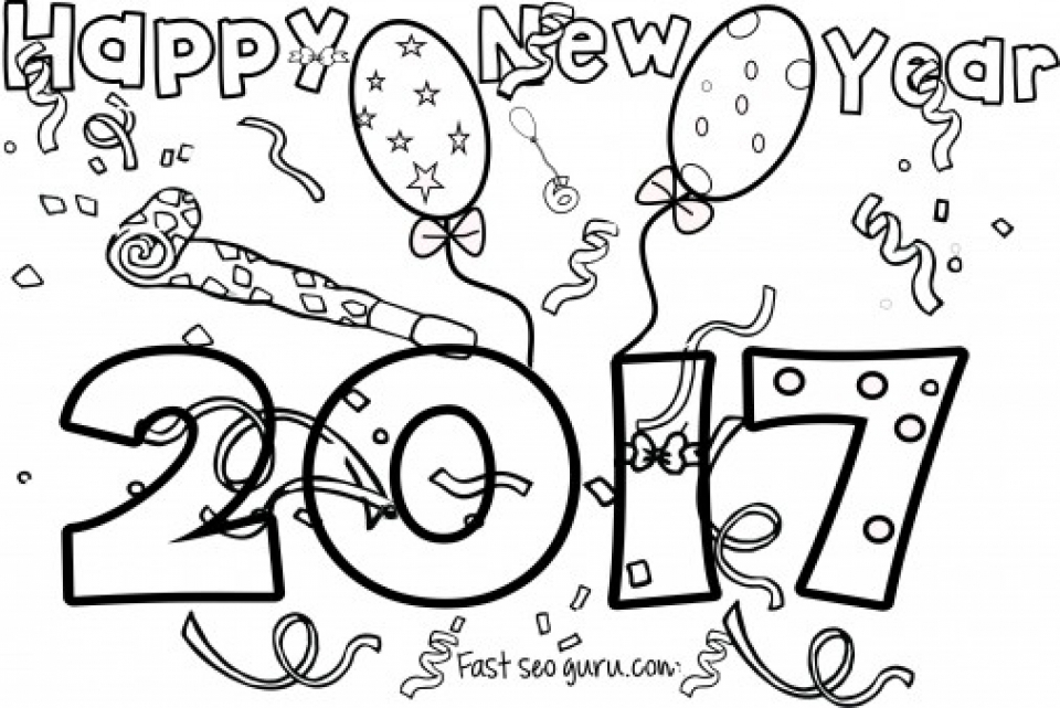 20 free printable new years coloring pages